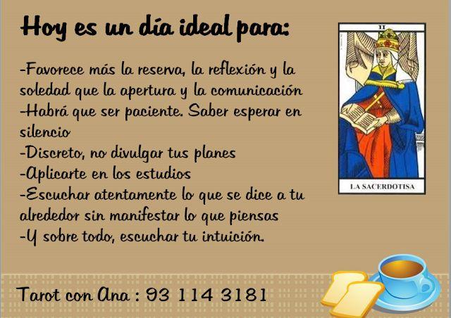 Ana Tarot: HOY ES UN DIA IDEAL PARA ........