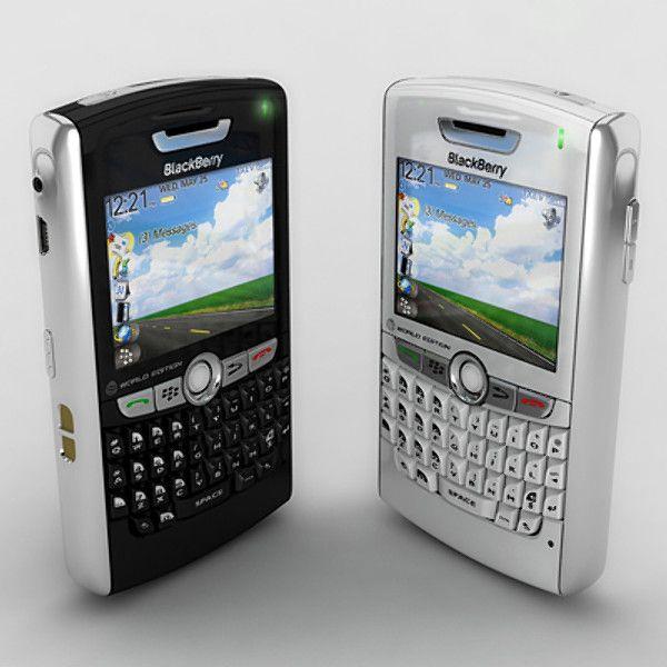 Blackberry 8800 8830 3D Model - 3D Model