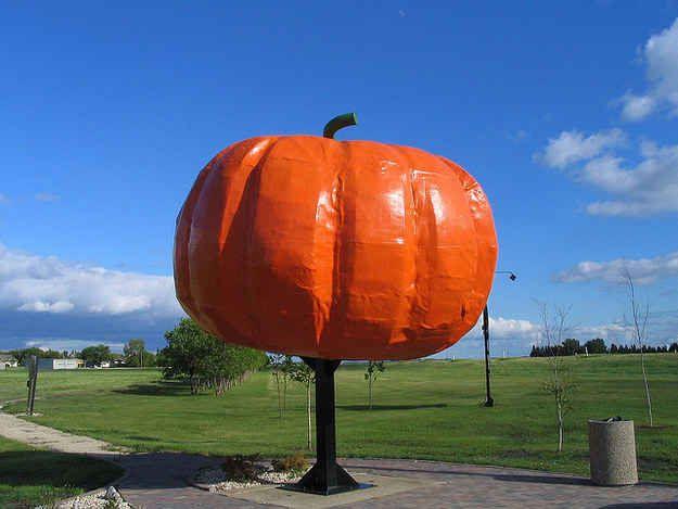 The World's Largest Pumpkin in Roland, Manitoba