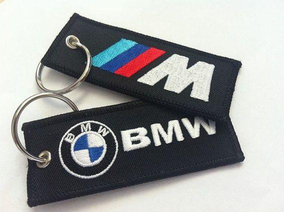 BMW M-Power M3 sport M1 M2 M4 M5 M6 X 5 Z1 Z3 Z4 sport automobile F1 CMR Karting course de voiture brodé porte clés Key Ring Fob télécommande porte-clé K007