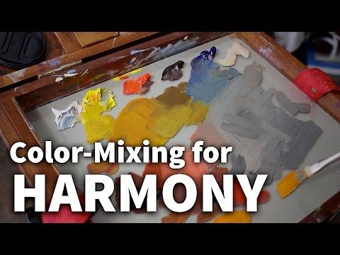 How to Mix Colors for Harmony and Creating Realistic Scenes - YouTube