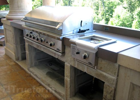 23 best concrete bbq's & outdoor bar tops images on pinterest