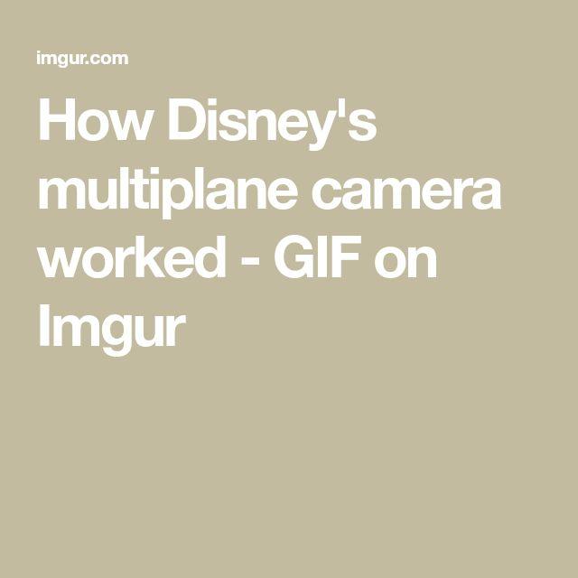How Disney's multiplane camera worked - GIF on Imgur