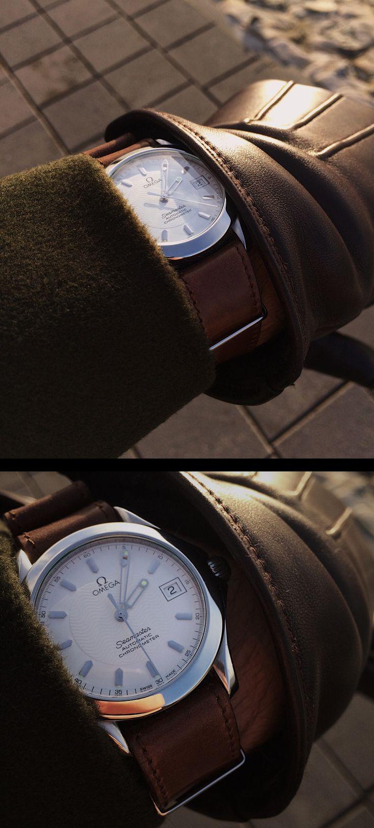 Omega Seamaster 2501.21.00 120m Chronometer on Kreis Cordovan-Nato