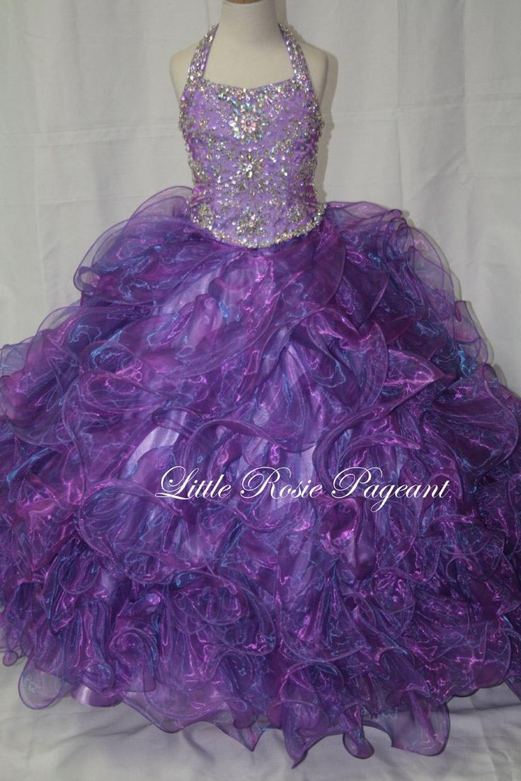 New Beautiful Little Rosie Pageant Dresses For Girls Long Skirt Halter Beads & Beading Rhinestone Sequins Organza Tiered Kids Formal Wear Baptism Dresses For Toddlers Beautiful Dresses For Girls From Liuliu8899, $200.27  Dhgate.Com