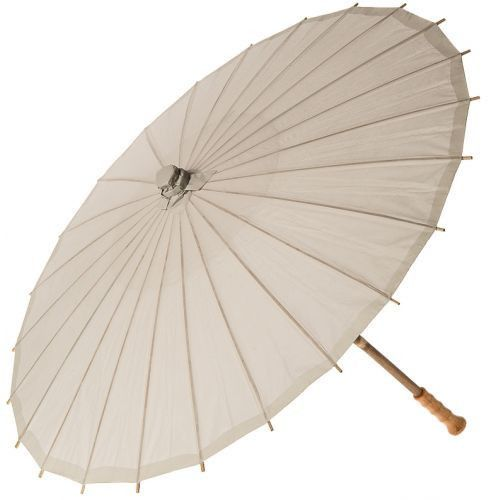 32 Inch Premium Paper Parasol - Greys