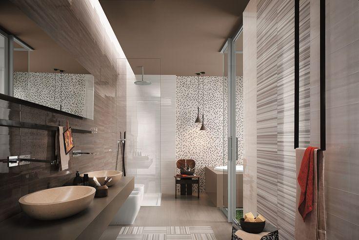 Отличная идея дизайна современной ванной.
