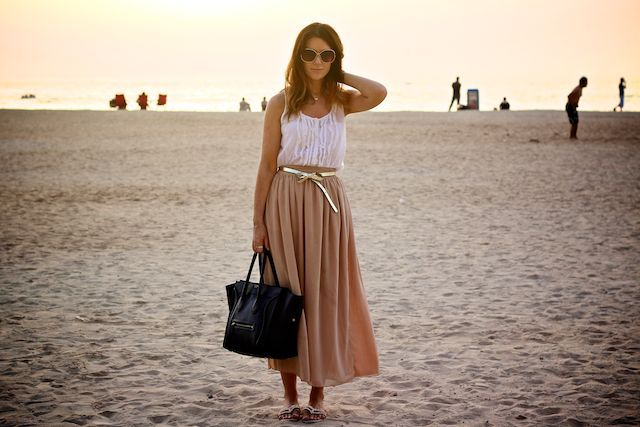 buy now, blog later: The American Apparel Chiffon Double-Layered Skirt