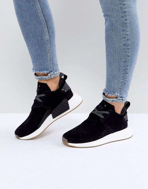 90a883b131526 adidas Originals NMD C2 Trainers In Black Suede