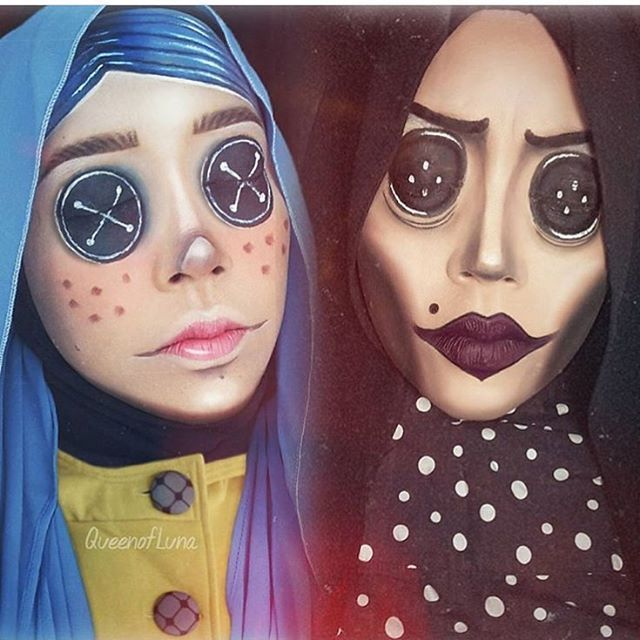 Special effects makeup @queenofluna #coraline
