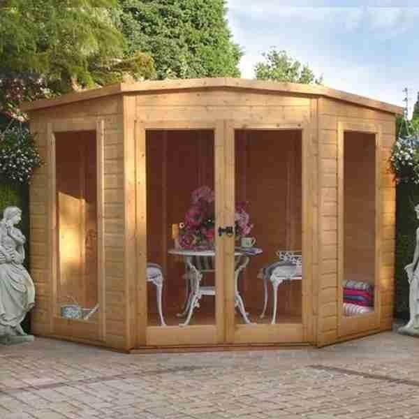 7x7 Shire Barclay Corner Summerhouse | Buy Sheds Direct