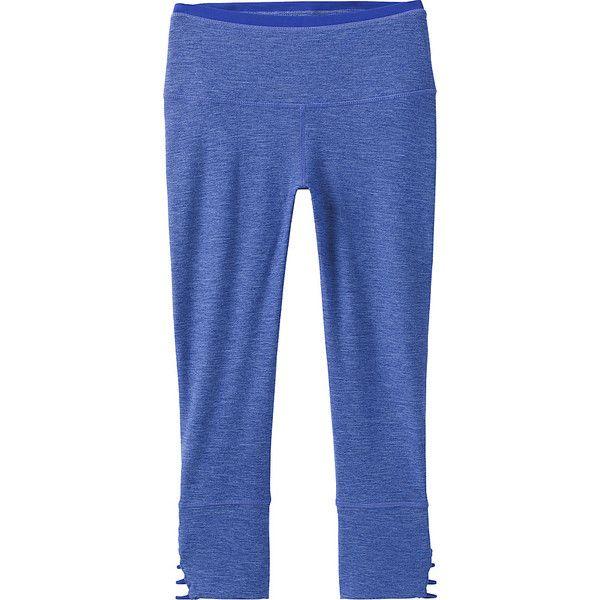 PrAna Tori Capri - XS - Cobalt - Pants ($39) ❤ liked on Polyvore featuring pants, capris, blue, blue capri, capri trousers, stretch waist pants, prana and knit capris