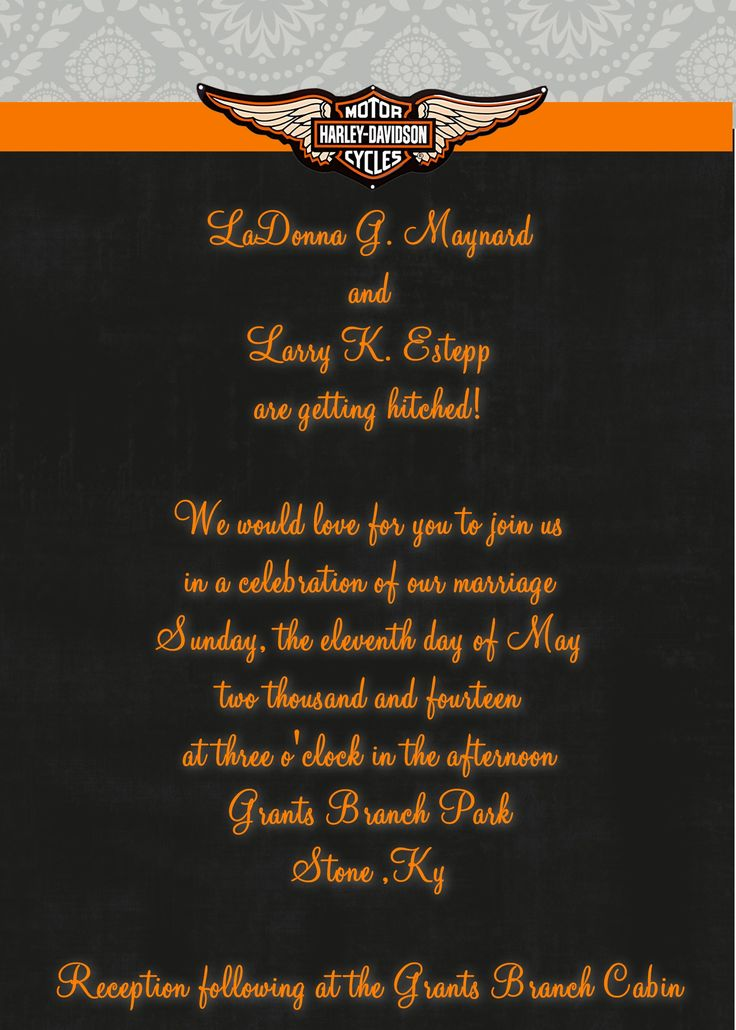 225 best motorcycle wedding images on pinterest | motorcycle, Wedding invitations