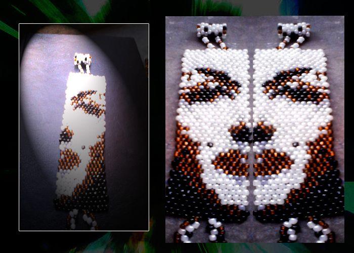 face bracelet brick stitch
