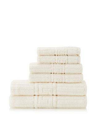 Espalma Greek Key 6-Piece Towel Set, Ivory