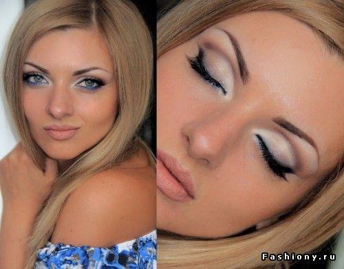 Стильный романтический макияж с цветовым акцентом! / красивый естественный романтический макияж фото урок