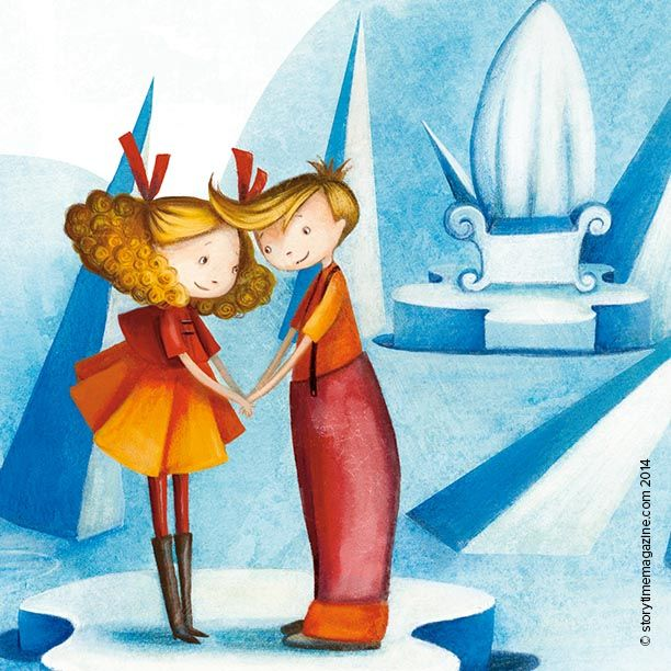 Gerda comes to Kay's rescue in The Snow Queen, illustrated by Valeria DoCampo…