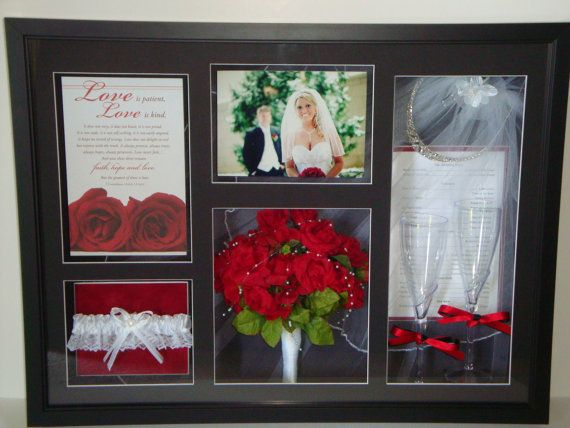 Wedding Shadow Box by PictureItCustomFrame on Etsy, $150.00