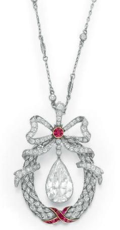 Belle Epoque Diamond and Ruby Necklace