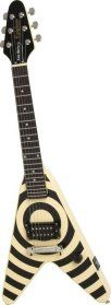 "a picture of a ""Zakk Pakk"" Epiphone Flying VeeWee guitar"