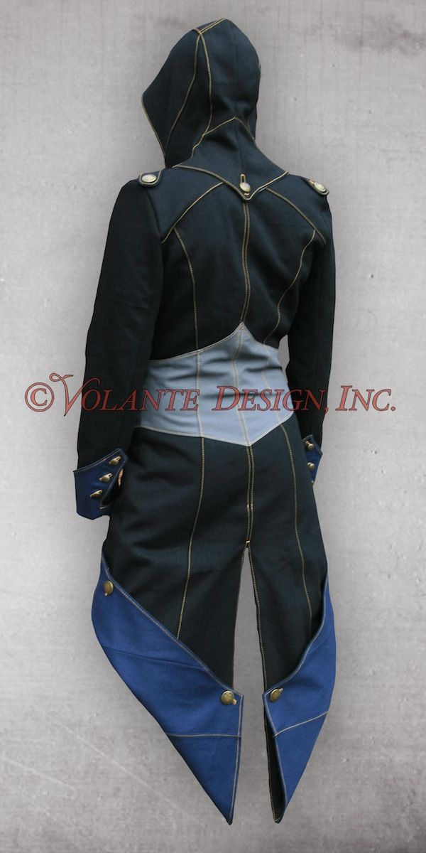 Wonderful Assassin's Creed inspired jacket.  The tail shape on this :3
