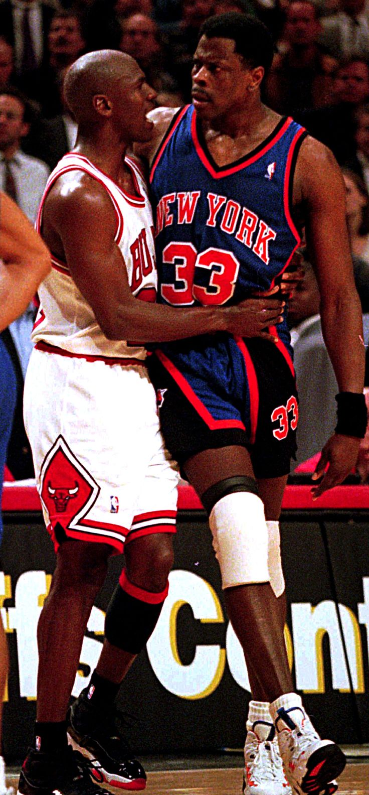 Michael Jordan(bulls) and Patrick Ewing (New York Knicks)