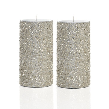 Candles Mod Podge Sponge Brush Glitter Spread mod podge on candle with sponge brush roll in glitter when dry tap off excess.