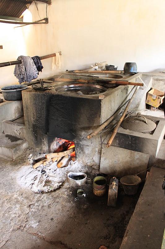 Plentong Batik Factory, Jogjakarta – Stove for batik dyes