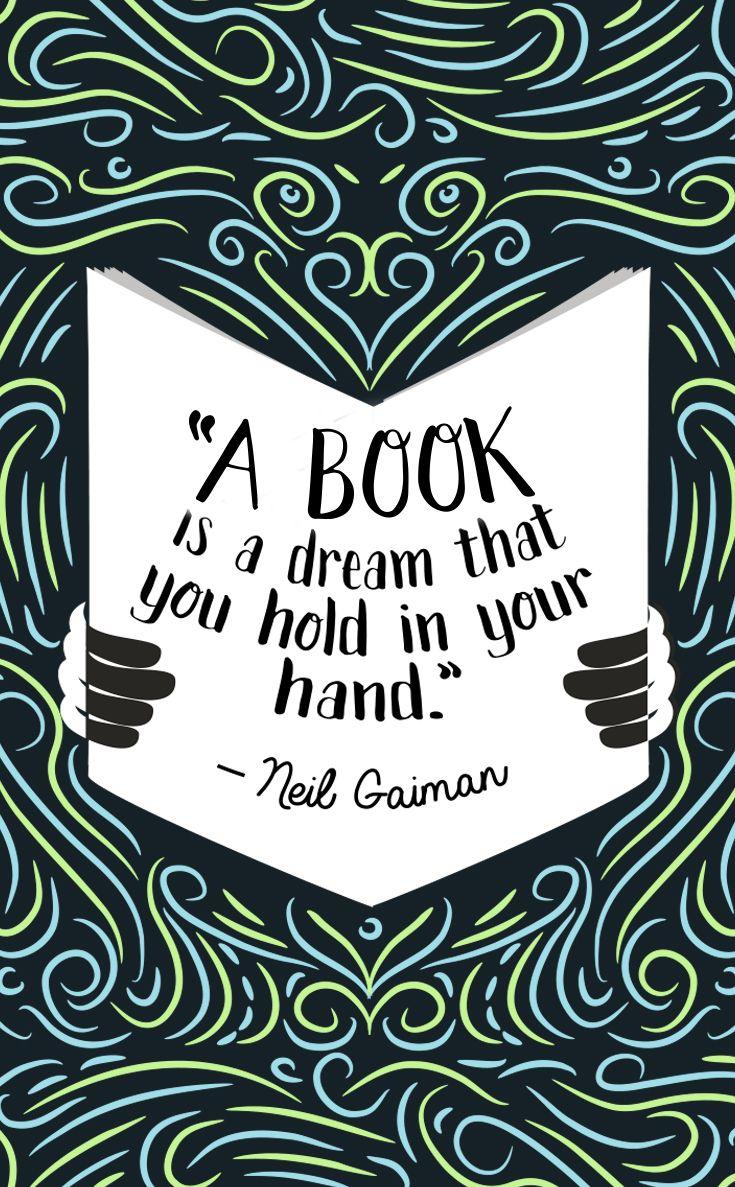 Ein Buch ist ein Traum, den man in der Hand hält. Wie schön! #lesen #Zitat #Sprüche #Spruch #Literatur #Bücher #Bücherliebe #Buch #booknerd #Leseratte #illustration #design