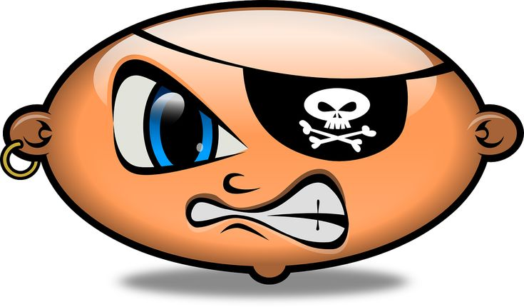 Pirate Angry Emoticon Smiley transparent image