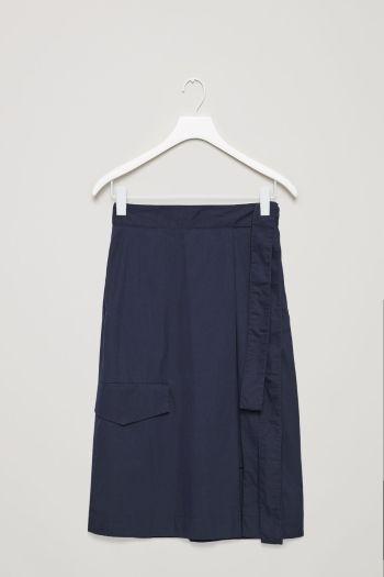 COS image 2 of Utility wrap skirt  in Dark Navy