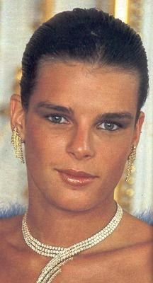 Princess Stèphanie of Monaco,the only sister of Princess Caroline.1984.