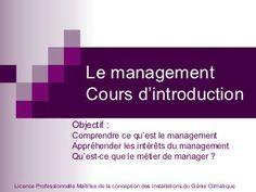 Cours d'introduction au management