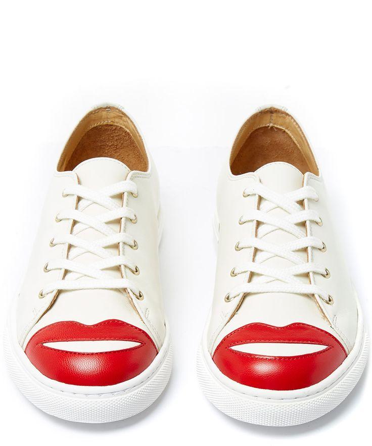 Charlotte Olympia Kiss Me Leather Trainers | Womenswear | Liberty.co.uk