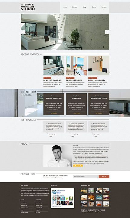 Interior & Furniture Responsive Joomla Template