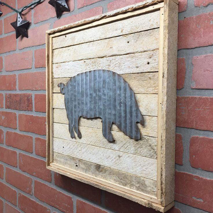 Metal Pig, Pig Kitchen decor, Farmhouse, rustic wall decor by CraftsbyDerek on Etsy https://www.etsy.com/listing/497047545/metal-pig-pig-kitchen-decor-farmhouse