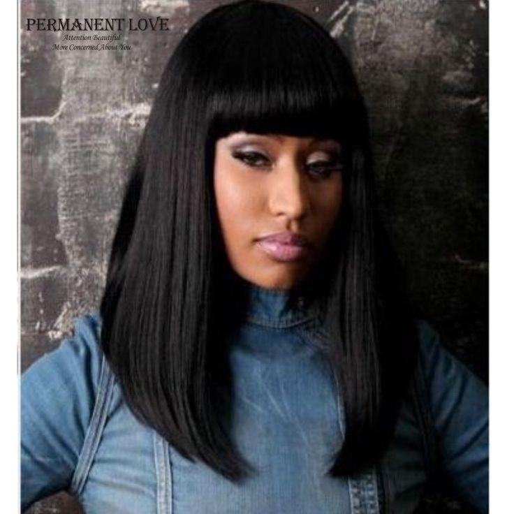 Классический Femal длинные черные парики с аккуратными челкой синтетические волосы парики для чернокожих женщин афро-американских прямые полные парики накладные в�