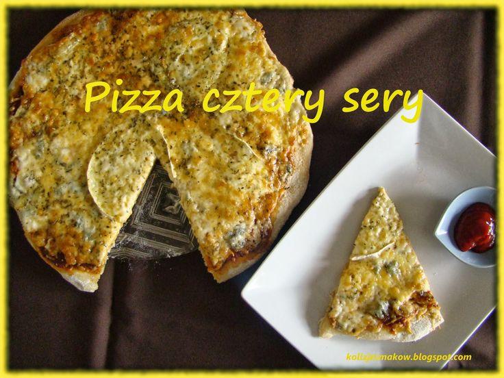 Domowa pizza cztery sery.