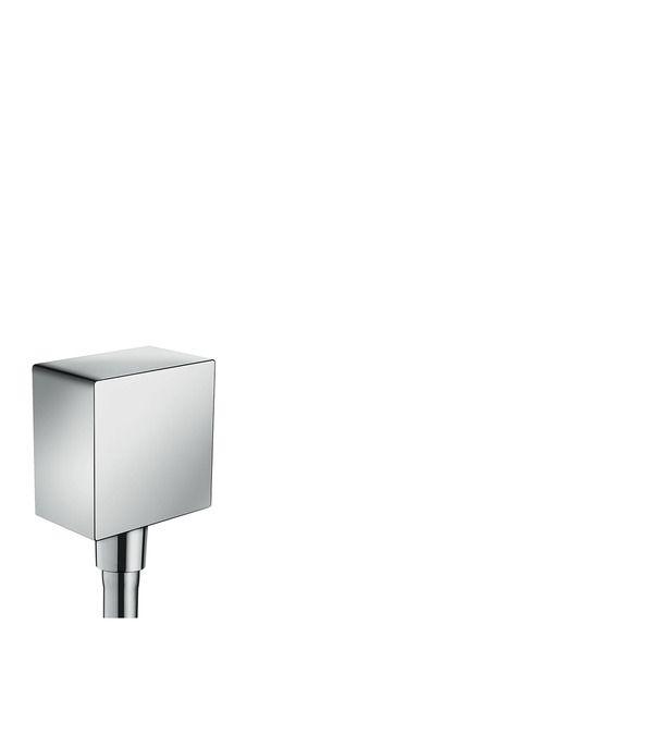 Hansgrphe Fixfit Square fali csatlakozás visszafolyásgátlóval és szintetikus gömbcsuklóval 26455 000 (26455000) Termékjellemzők műanyag csatlakozó visszafolyásgátlóval