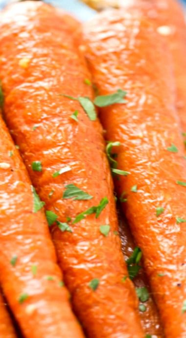 Oven Roasted Carrots with Garlic and Parsley