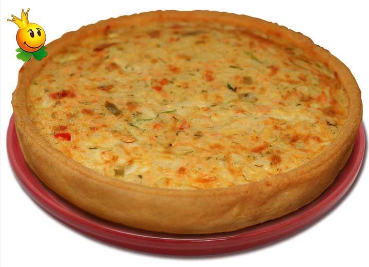 Французский пирог с красной рыбой