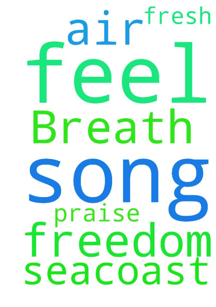 Breath of fresh air and freedom in this praise song, i feel like on the seacoast -   Posted at: https://prayerrequest.com/t/EwQ #pray #prayer #request #prayerrequest