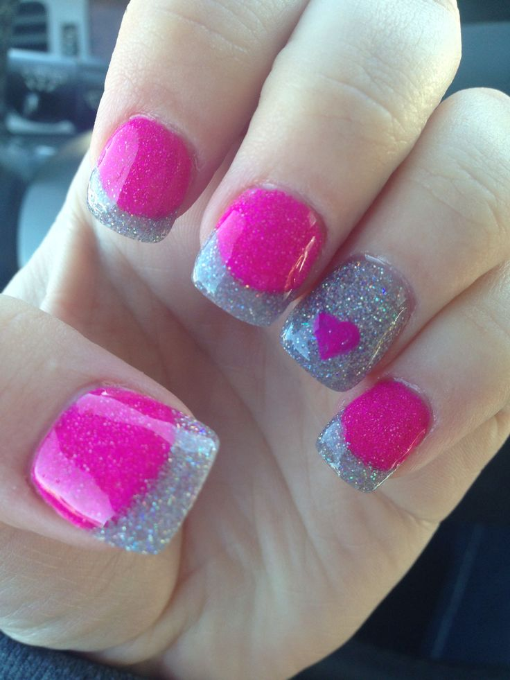 Valentines nails.... i so wish i could do this!