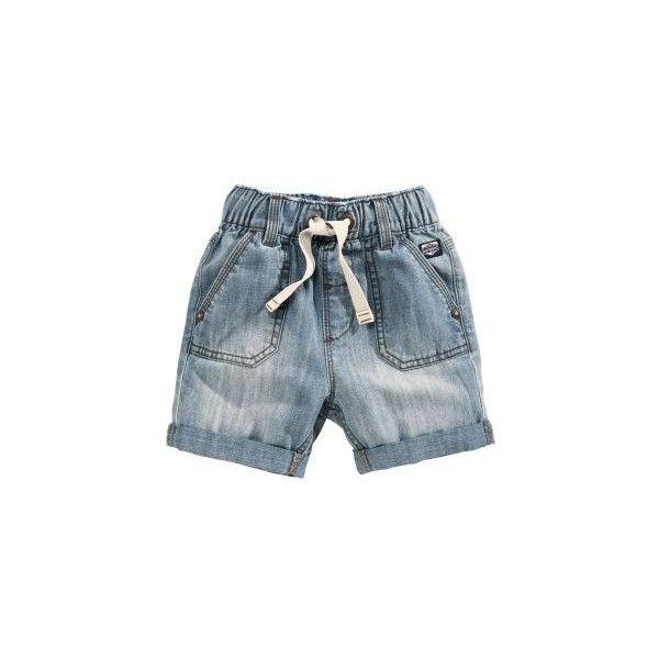 Workwear Denim Shorts (3mths-6yrs) ($10) ❤ liked on Polyvore featuring shorts, workwear shorts, denim short shorts, denim shorts, jean shorts and short jean shorts