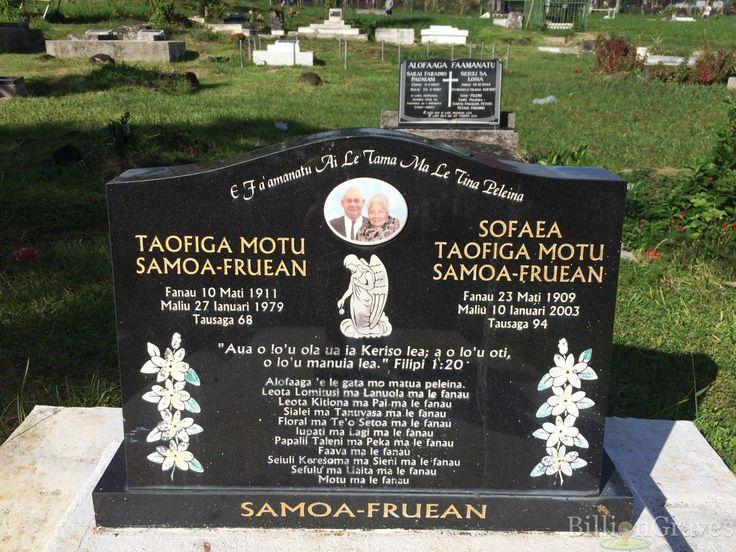 Headstone image of Sofaea Taofiga Motu Samoa-fruean