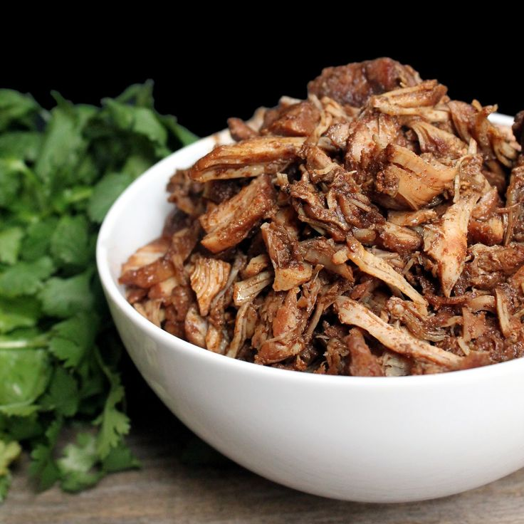Killer Crockpot Pork Carnitas from The Stay At Home Chef. The best crockpot carnitas you'll ever have!  Made in your slow cooker so it couldn't be easier!