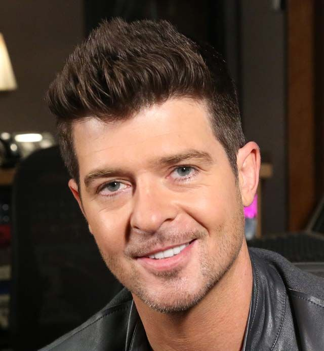 Robin Thicke S Straight Up Hairstyle 2014 Hair Trends