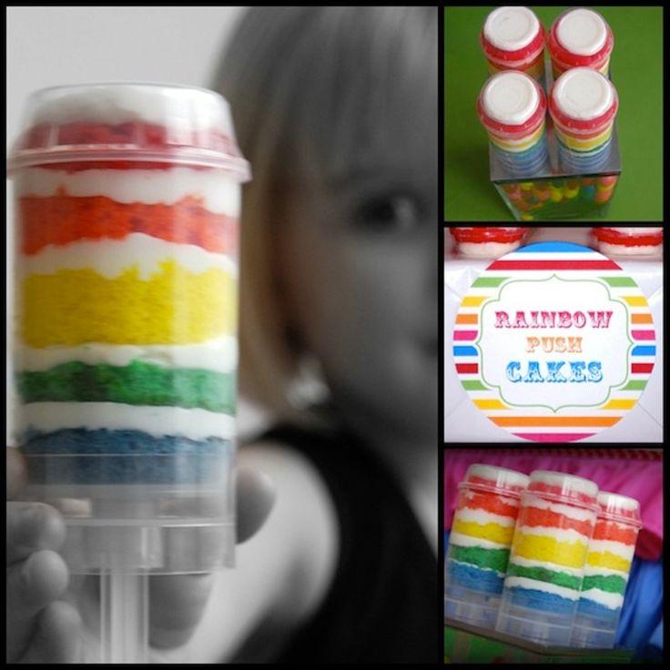 Rainbow Push Pop Cakes — Simply Creative Insanity