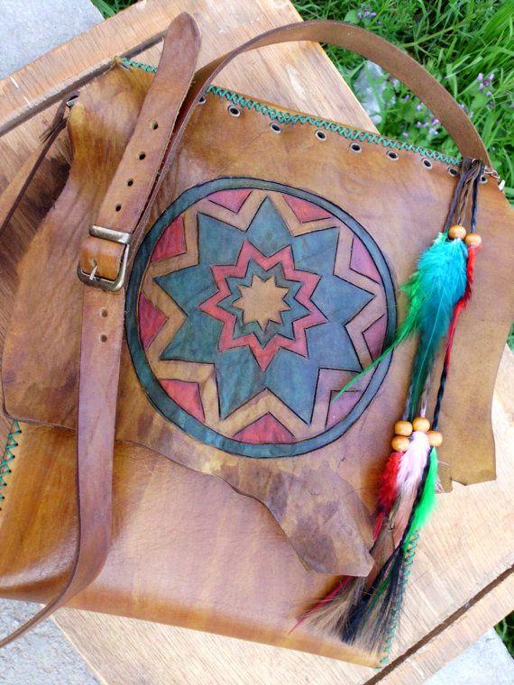 Leather bag  Shoulder bag  Brown bag  Hippie by AuGustusBoutique