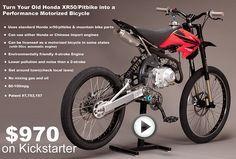 Motoped - mountain bike conversion //